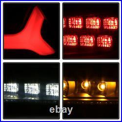 2008-2017 Mitsubishi Lancer 08-15 EVO X Black Smoked LED Tube Tail Lights Lamps