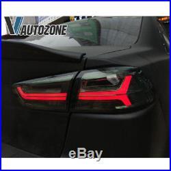 2008-2018 Mitsubishi Lancer EVO X Sedan 4DR Full Smoke LED Brake Tail Light Pair