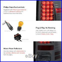 2009-18 Dodge Ram Smoke LED Tail Lights L+R Black HaLo Projector Headlight Lamp