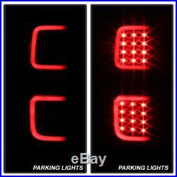 2009 2010 2011 2012 2013 2014 Ford F150 Black LED Tube Tail Lights Brake Lamps