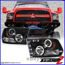 2009 2010 2011 2012 2013-2018 Dodge Ram Black Halo LED Headlights Tail Light SET