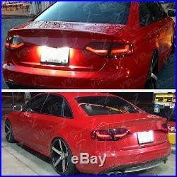 2009-2012 A4 Quattro B8 Sedan BURGUNDY RED LED SMD Rear Tail Light Trunk Lamp