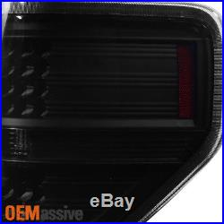2009-2014 Ford F150 F-150 Black Smoked Headlights + LED Tail Lights Brake Lamps