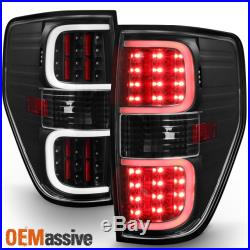 2009-2014 Ford F150 Pickup Black LED Tube Tail Lights Brake Lamps Replacement