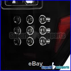 2009-2014 Ford F150 Pickup LED Brake Lamps Tail Lights Black