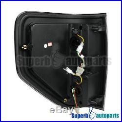 2009-2014 Ford F150 Pickup LED Brake Lamps Tail Lights Glossy Black