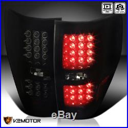 2009-2014 Ford F150 Pickup Piano Black Dark Smoke LED Tail Lights Brake Lamps