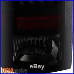 2009-2016 Ram 1500 2500 3500 LED Black Smoked Tail Lights + LED 3Rd Brake Lamp