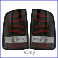 2009-2017 Dodge Ram 1500 2500 3500 Black LED Taillights with Light Tube
