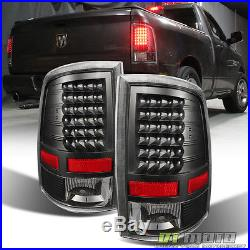 2009-2017 Dodge Ram 1500 2500 3500 Pickup LED Tail Lights Black Lamps Left+Right