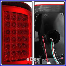 2009-2017 Dodge Ram 1500 2500 3500 Red Clear LED Tail Lights Signal Brake Lamps