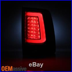 2009-2017 Dodge Ram 1500 2500 3500 Red Clear LED Tube Tail Lights Brake Lamps