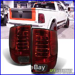 2009-2017 Dodge Ram 1500/ 2500/ 3500 Red Smoked Philips Lumileds LED Tail Lights