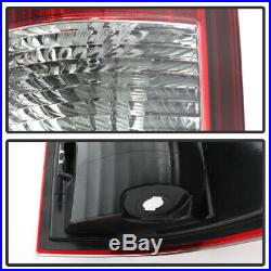 2009-2018 Dodge Ram 1500 10-18 2500 3500 Red Clear LED Tube Tail Lights Lamps