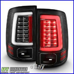 2009-2018 Dodge Ram 1500 2500 3500 Black Edition LED Tube Tail Lights Lamps