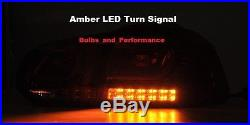 2010 2011 2012 2013 2014 VW Golf, GTI, R, Mk6 Smoked 3D LED Tail Lights Lamps