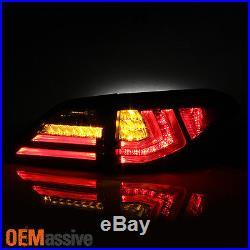 2010 2011 2012 Lexus RX350 4PCS Red LED Tube Tail Lights Inner Outer Brake Lamps