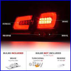 2010-2015 Chevy Cruze OLED NEON TUBE 4PC LED Rear Tail Lights Lamps Black SET