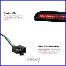 2011-2016 Ford F250 Dark Smoke High Stop Light Taillights Black Headlamps LED