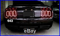 2013, 2014 Style Ford Mustang LED Halo Tail Lights (05-09 All)