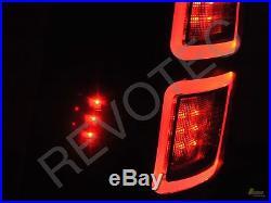 2013-2016 Ram 1500 2500 3500 Laramie Limited Pickup Black Full LED Tail Lights