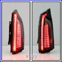 2013-2018 Cadillac ATS 4-Door Sedan Black LED Tail Lights Brake Lamps Left+Right