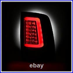 2013-2018 Dodge Ram 1500 2500 3500 Black Edition LED Tube Tail Lights Lamps