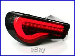 2013+ Subaru Brz Zc6 / Scion Fr-s V-type Led Sequential Taillights Smoke/gold