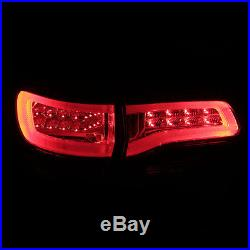 2014-2015 Jeep Grand Cherokee Red Smoke Neon Tube LED Tail Lights Rear Lamps