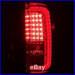 2014-2018 GMC Sierra 1500 2500 3500 Rear Brake LED Bar Tail Lights Red/Smoke