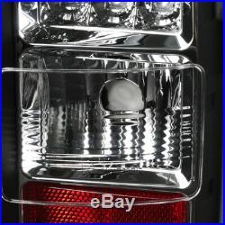 2014-2018 GMC Sierra 1500 2500 3500 Rear Brake LED Light Bar Tail Lights Black