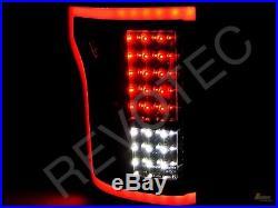 2015-2017 Ford F150 F-150 Pickup Black LED Tail Lights Lamps RH & LH