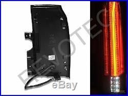 2015-2019 GMC Yukon XL SUV Black Full LED Tail Lights Lamps RH + LH