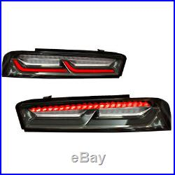 2016-2018 Chevrolet Camaro Smoke LED Tail Light with RED Sequential LED Signal
