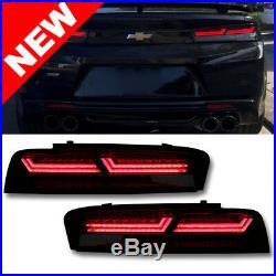 2016-2018 GM Chevrolet Camaro Darkened LED Tail Lamp Lights with Running Signal