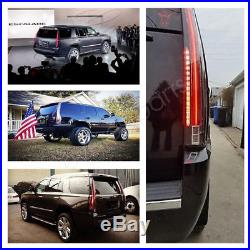 2016 Style LED Tail Lights For 2007-2014 CADILLAC Escalade ESV Red Rear Lamp