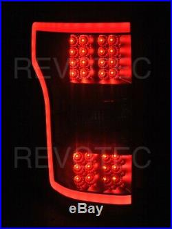 2018-2019 Ford F150 F-150 Pickup XL XLT Black LED Tail Lights Lamps RH & LH