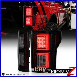 2018+ Ford F150 Pickup Black Smoked Dual LED Neon Tube Running Light Tail Lamp