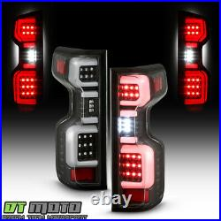 2019-2020 Chevy Silverado 1500 Incandescent Model Black LED Tail Lights Lamps
