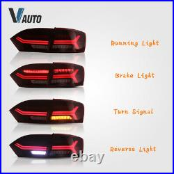 2 Headlights & 2 Red Tail Lights For 2011-2014 Volkswagen VW Jetta Assembly