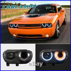 2 Sets For Dodge Challenger 2008-2014 LED Headlights&LED Tail Lights Red Assmbly