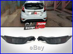 (2) smoke Lens Red LED Rear Bumper Reflector Fog Light For 09-13 Ford Fiesta MK7