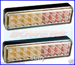 2x LED AUTOLAMPS 135ARME 12V/24V REAR TAIL CLEAR COMBINATION SLIM LIGHTS/LAMPS