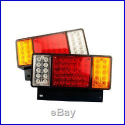 2x Left Right 50 LED Rear Tail Light Lamp For ISUZU Elf Truck NPR NKR NHR 1984+