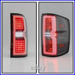 3D Sequential LED 2014-2017 Chevy Silverado 1500 Tail Light Signal Black Smoke