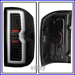 3D Sequential Signal 2014-2017 Chevy Silverado 1500 2500 LED Tail Lights-Black