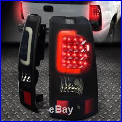 3d Led C-bar For 2003-2007 Chevy Silverado Black Smoked Brake Tail Light/lamp