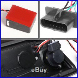 3d Led Red Barfor 1988-2000 Chevy C/k Pickup Chrome Tint Tail Light Brake Lamp