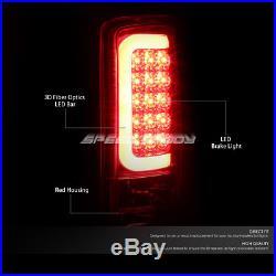 3d Led Red Barfor 2000-2006 Gmc Yukon/tahoe Chrome Red Tail Light Brake Lamp