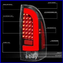 3d Led Tube Barfor 05-15 Toyota Tacoma Tail Light Brake Parking Lamps Black
